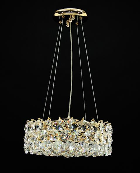 "1041 Crystal Pendant Light 14"" 4 Light - Asfour Crystal Chandelier [S-1041-14-4L-40mm]"