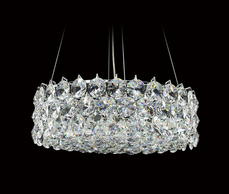 "1041 Crystal Pendant Light 17"" 8 Light - Asfour Crystal Chandelier [S-1041-17""-40mm-61]"