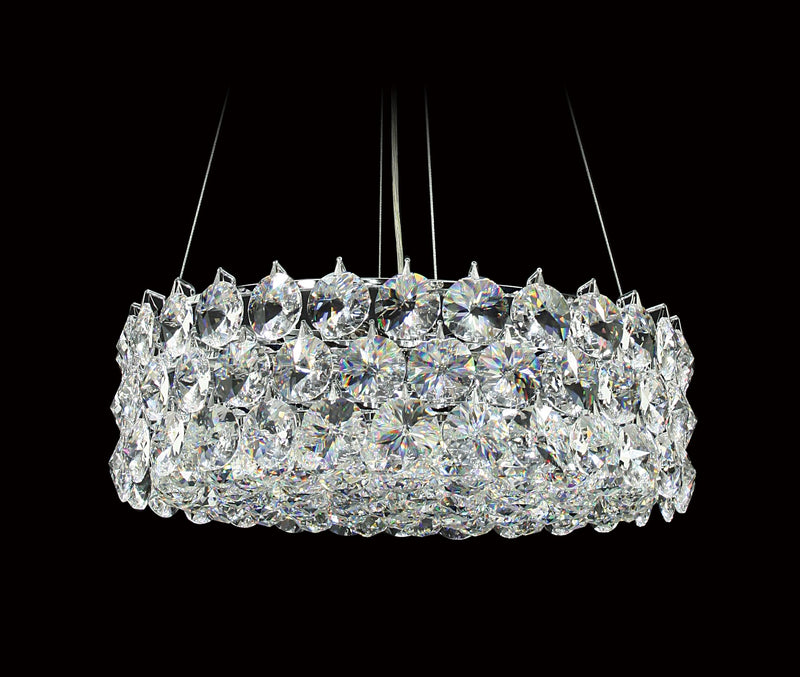 "1041 Crystal Semi Flush Mount Light 17"" 8 Light - Asfour Crystal [S-1041-17""-40mm-61]"