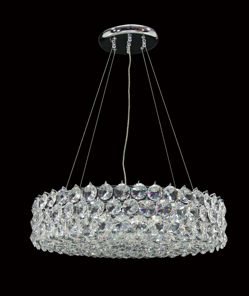 "1041 Crystal Semi Flush Mount Light 24"" 12 Light - Asfour Crystal [S-1041-24""-40mm-127]"