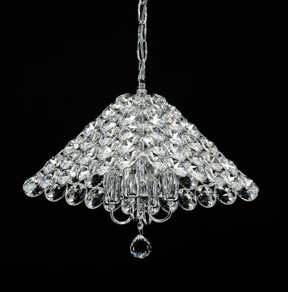 "1043 Crystal Pendant Light 14"" 4 Light - Asfour Crystal Chandelier [S-1043-14""x14""-4L-80]"