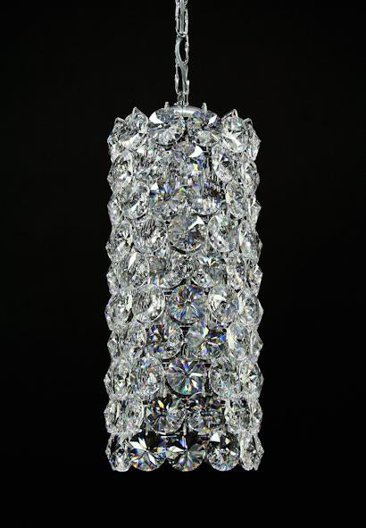 "1053 Crystal Pendant Light 8"" 6 Light - Asfour Crystal Chandelier [S-1053-8""-6L-1040-120]"