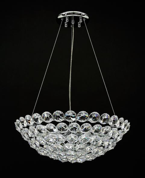 "1055 Crystal Semi Flush Mount Light 22"" 9 Light - Asfour Crystal [S-1055-22""-9L-120]"