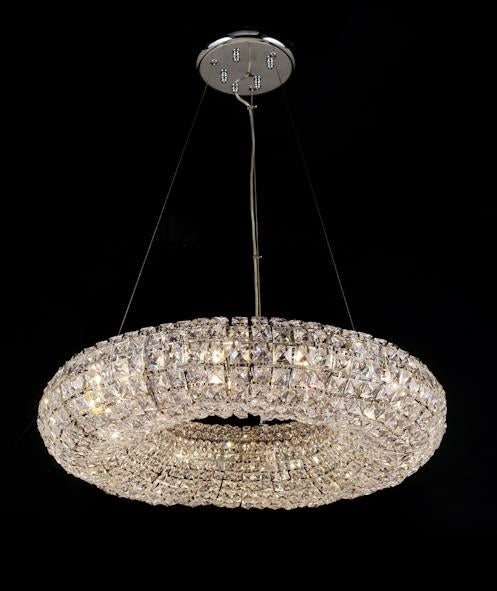 "10807 Crystal Pendant Light 27"" 10 Light - Asfour Crystal Chandelier [S-10807-27""-10L-2020]"