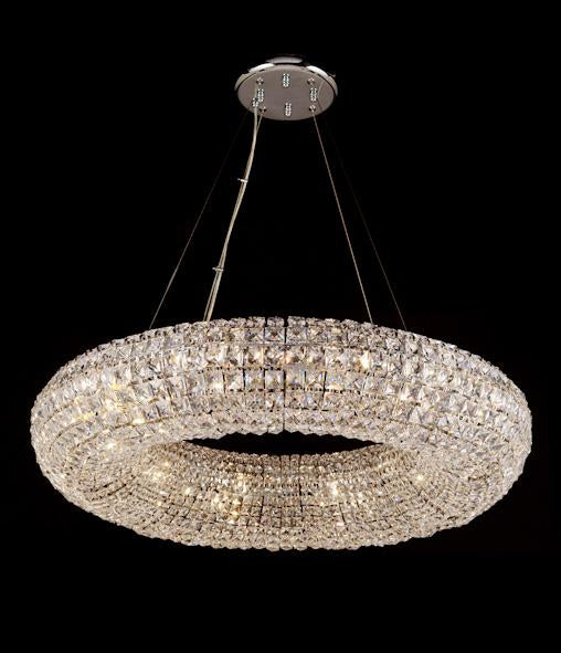 "10807 Crystal Semi Flush Mount Light 32.5"" 12 Light - Asfour Crystal [S-10807-32.5""-12L-2020]"