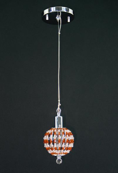 "1145 Crystal Single Pendant Light 4"" Single Light - Asfour Crystal [S-1145-1L YE]"