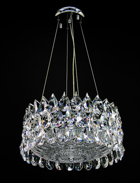"3015 Crystal Semi Flush Mount Light - 14"" 6 Light - Asfour Crystal [S-3015-14""+70 GLASS]"