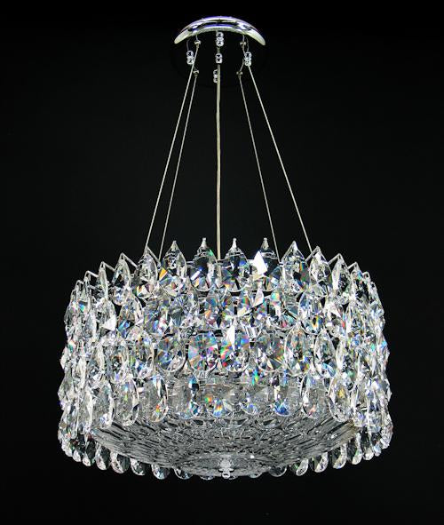 "3015 Crystal Semi Flush Mount Light - 18"" 8 Light - Asfour Crystal [S-3015-18""+70 GLASS]"