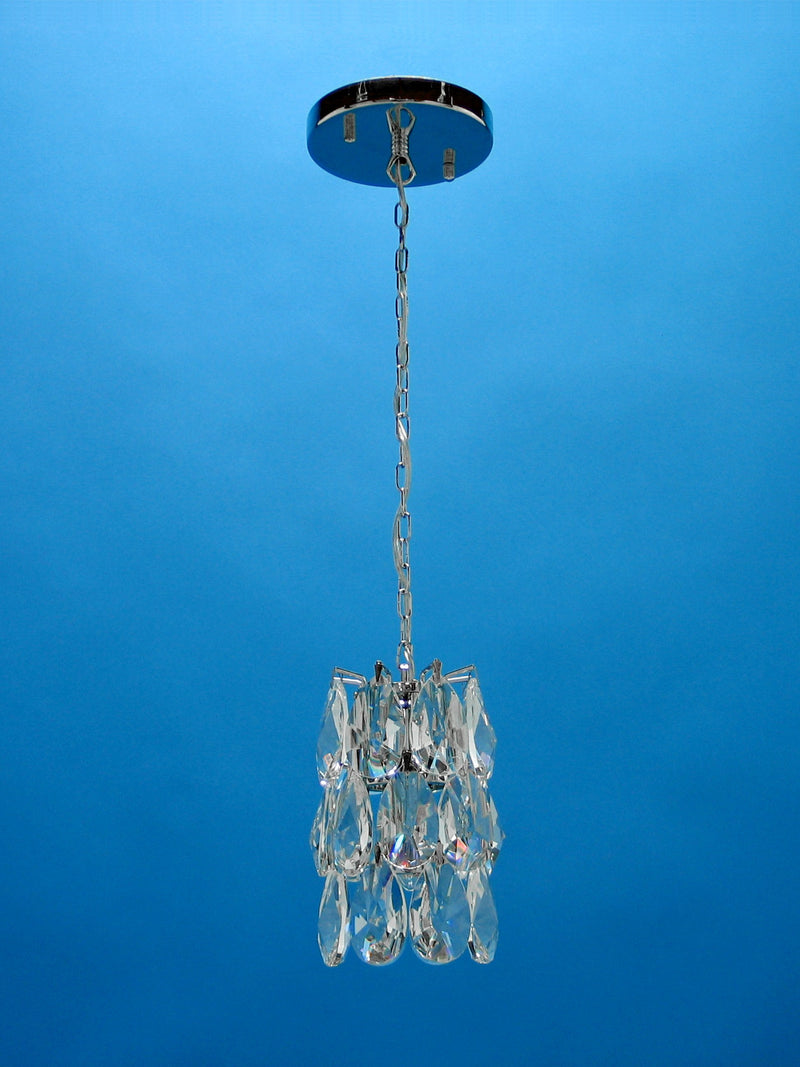 "3015 Crystal Single Pendant Light - 4"" 1 Light - Asfour Crystal [S-3015-1L-873-24]"