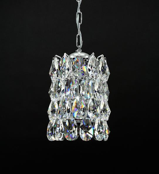 "3015 Crystal Pendant Light - 8"" 4 Light - Asfour Crystal Chandelier [S-3015-4L-48]"