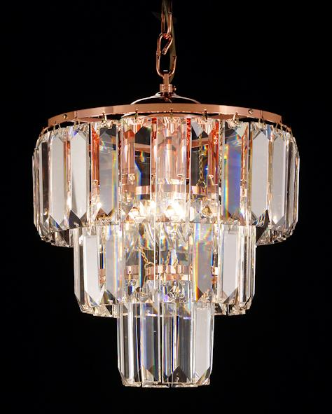 "47 Crystal Pendant Light - 10.5"" 4 Light - Asfour Crystal Chandelier [S-47-10.5""-610-48-3LAYERS]"