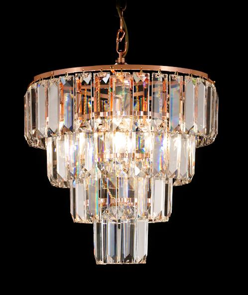 "47 Crystal Pendant Light - 14"" 6 Light - Asfour Crystal Chandelier [S-47-14""-610-80-4LAYERS]"