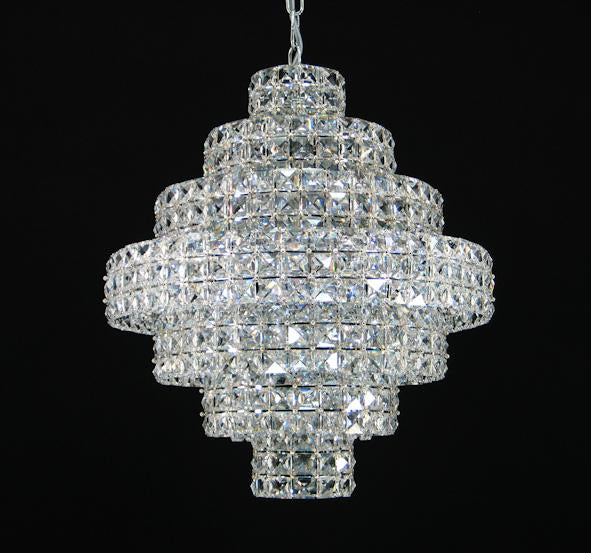 "47 Crystal Pendant Light - 16"" 11 Light - Asfour Crystal Chandelier [S-47-16""-11L-22mm-624""]"