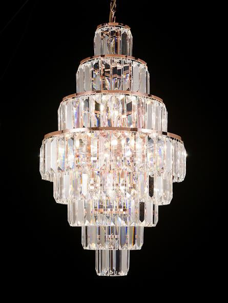 "47 Crystal Pendant Light - 17"" 18 Light - Asfour Crystal Chandelier [S-47-17""-610-180-8LAYERS]"