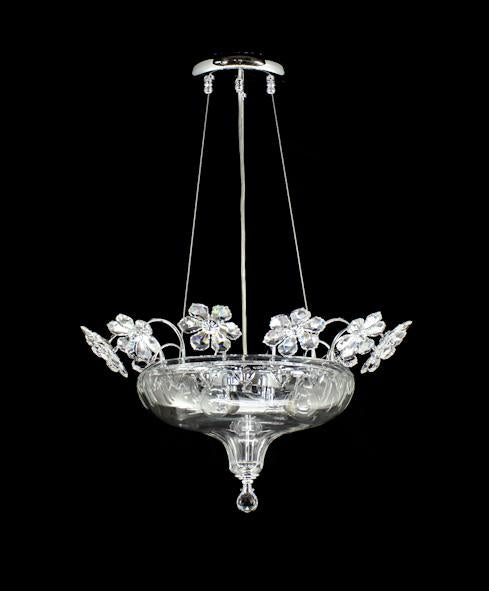 "5008 Crystal Pendant Light - 19"" 4 Light - Asfour Crystal Chandelier [S-5008-1-19""-4L]"