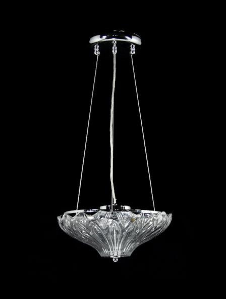 "5015 Crystal Semi Flush Mount Light - 12"" 3 Light - Asfour Crystal [S-5015-12""-3L]"
