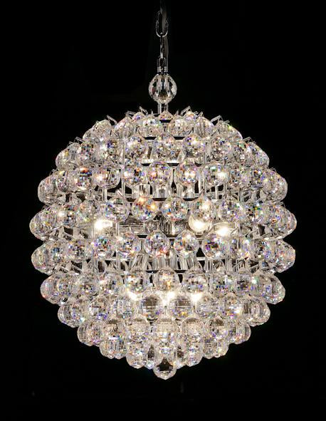 "5342 Crystal Pendant Light - 18"" 12 Light - Asfour Crystal Chandelier [S-5342-18""-740-40mm]"