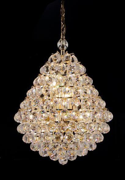 "5343 Crystal Pendant Light - 17"" 8 Light - Asfour Crystal Chandelier [S-5343-17""-740-40mm]"