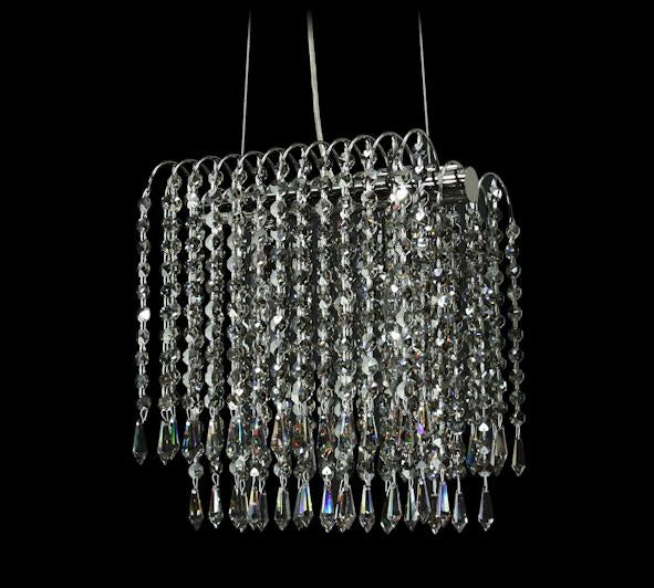 "8054 Crystal Semi Flush Mount Light - 10.5"" 2 Light - Asfour Crystal [S-8054-10.5""-401]"