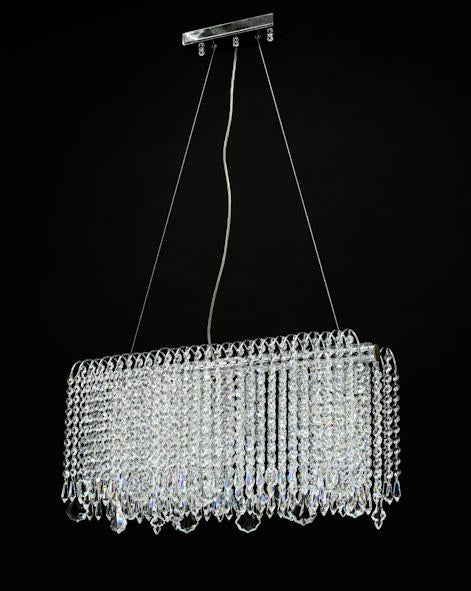 "8054 Crystal Pendant Light - 24"" 6 Light - Asfour Crystal Chandelier [S-8054-24""-401]"