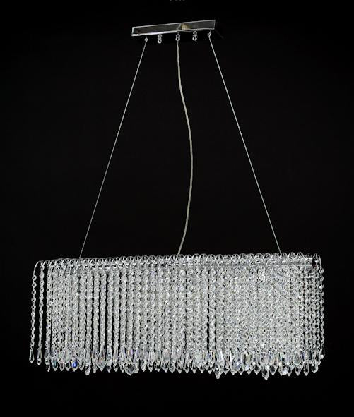 "8054 Crystal Semi Flush Mount Light - 31.5"" 6 Light - Asfour Crystal [S-8054-31.5""-401]"