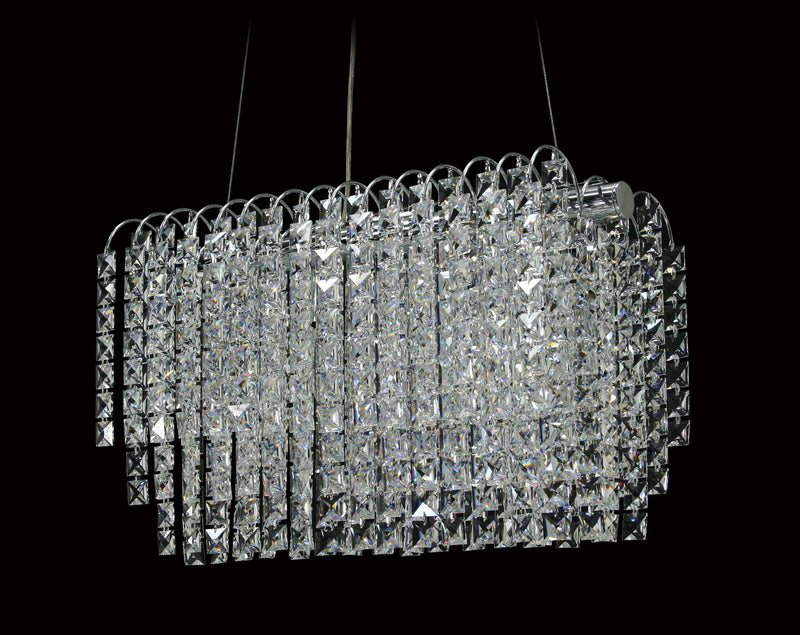 "8055 Crystal Pendant Light - 18.5"" 4 Light - Asfour Crystal Chandelier [S-8055-18.5""-2020-22]"