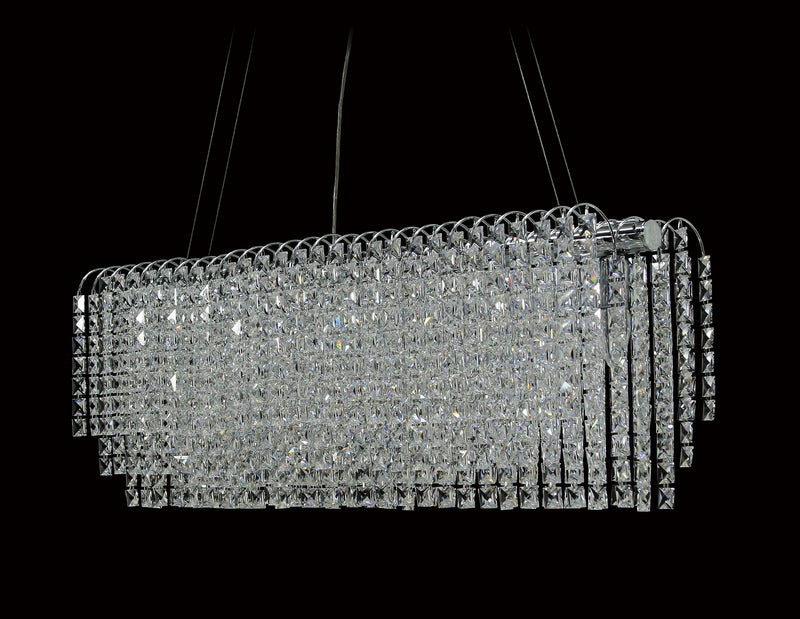 "8055 Crystal Pendant Light - 32"" 6 Light - Asfour Crystal Chandelier [S-8055-32""-2020-22]"