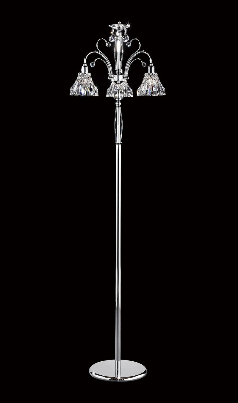 "031 Crystal Floor Lamp 20"" 3 Light - Asfour Crystal [ST-031-(B)-20""-3L+1143]"