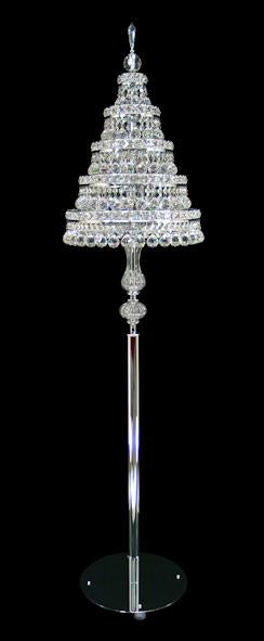 "2005 Crystal Floor Lamp 15"" 9 Light - Asfour Crystal [ST-2005B-15""-14mm-5LAYERS]"