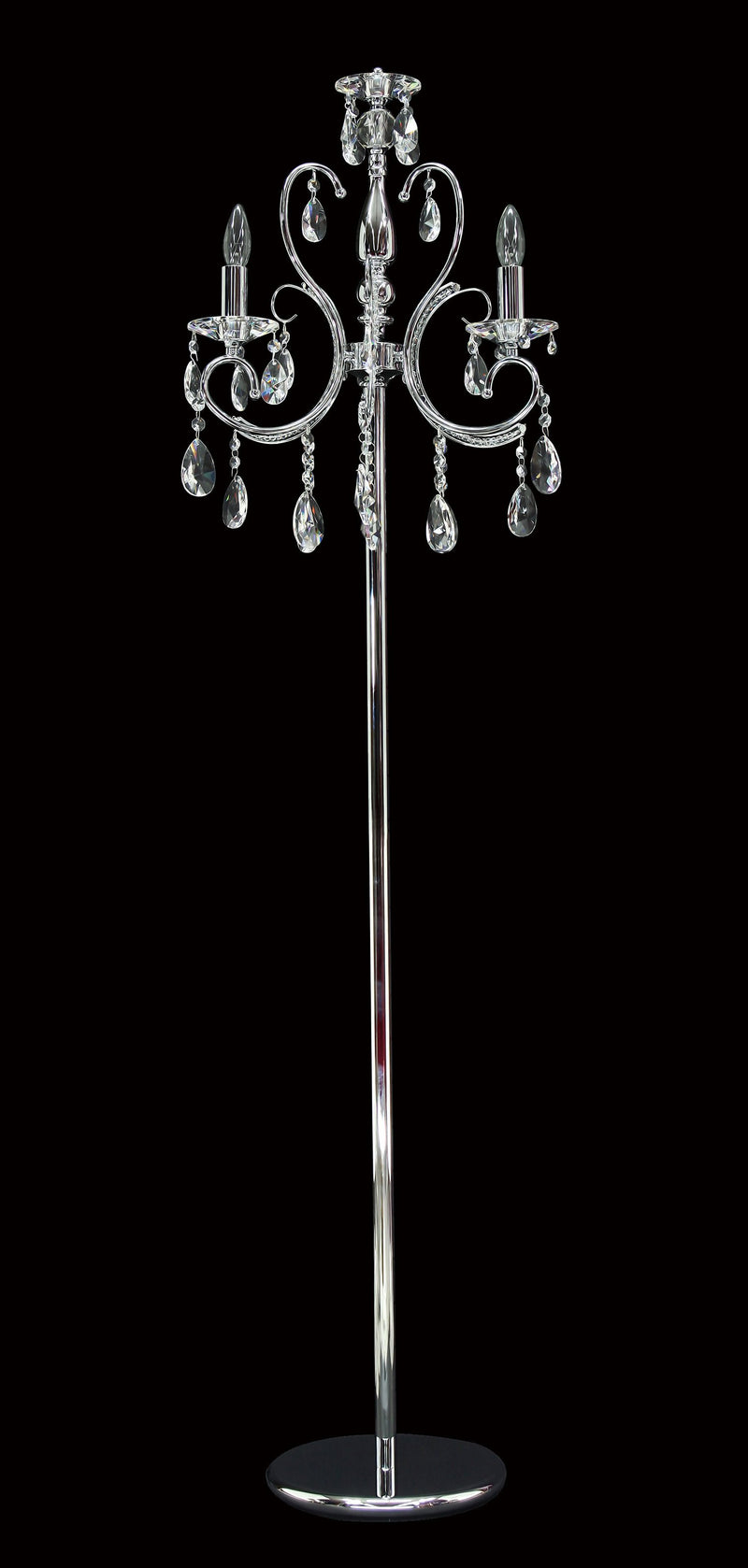 "2013 Crystal Floor Lamp 18"" 3 Light - Asfour Crystal [ST-2013-18""-3L-1038-873]"