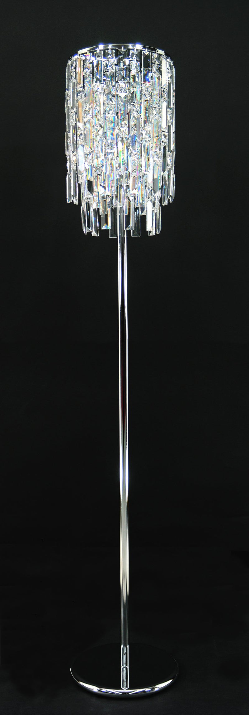 "20610 Crystal Floor Lamp 10"" 3 Light - Asfour Crystal [ST-20610-10""-3L]"