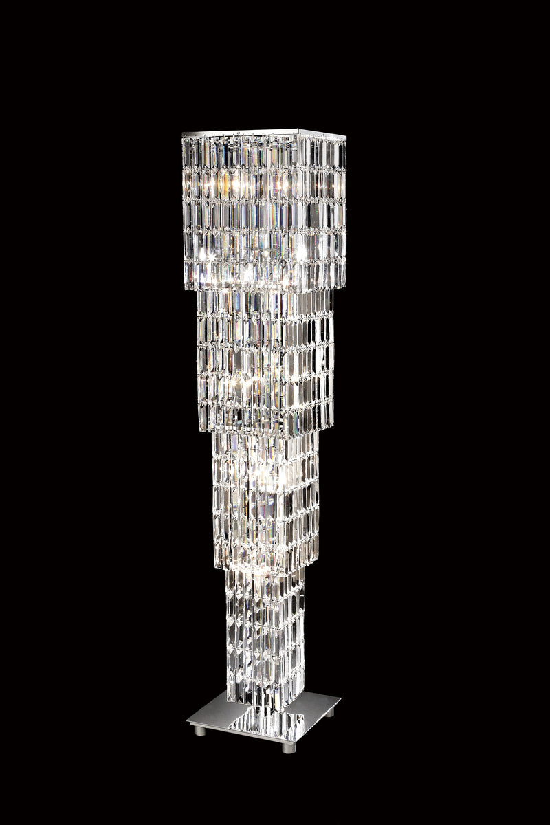 "20610 Crystal Floor Lamp 13"" Square 15 Light - Asfour Crystal [ST-20610-13"" Square]"