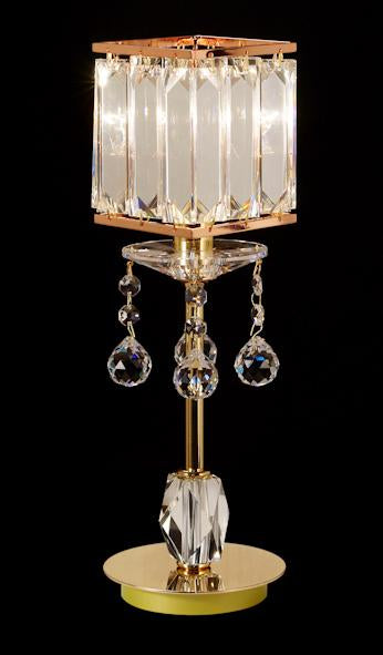 "008 Crystal Table Lamp - 5"" 1 Light - Asfour Crystal Penlogue Coffin Stone [T-008-1L-1038-701-LS3-610]"