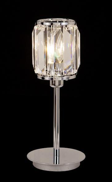 "038 Crystal Table Lamp - 4"" 1 Light - Asfour Crystal Penlogue Coffin Stone [T-038-1L-610-4-8]"