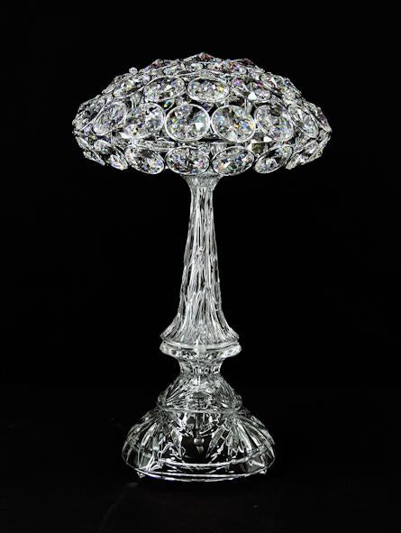 "1056 Crystal Table Lamp 11"" 2 Light - Asfour Crystal [T-1056-11""-2L-1040-53]"