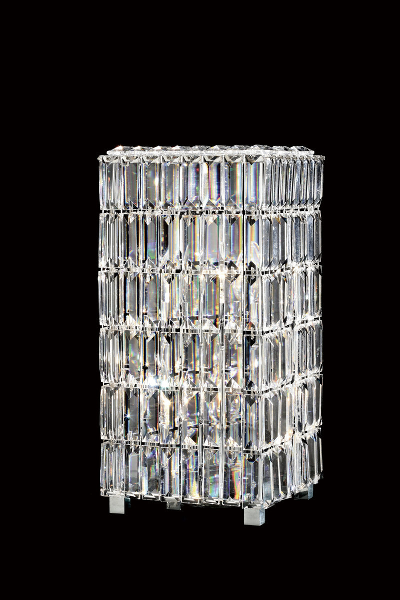 "20612 Crystal Table Lamp - 8"" Square 4 Light - Asfour Crystal [T-20612-8""-4L-SQ]"