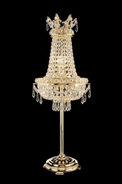 "2210 Crystal Table Lamp - 12"" 4 Light - Asfour Crystal [T-2210-12""-14mm+401]"