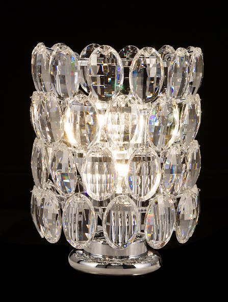 "3015 Crystal Table Lamp - 8"" 4 Light - Asfour Crystal Pendeloque [T-3015-4L-2.5-919]"