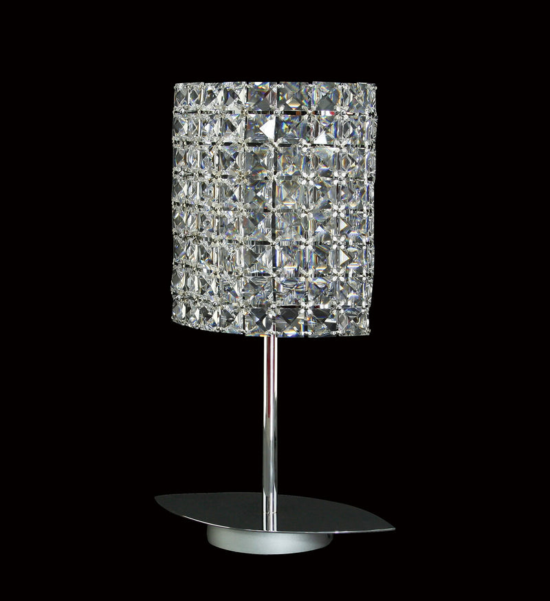"38 Crystal Table Lamp - 9"" 2 Light - Asfour Crystal [T-38-2L-22-128]"