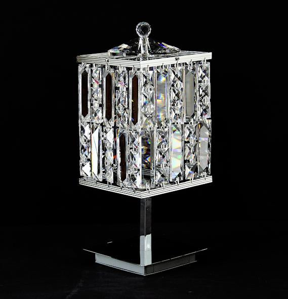 "4015 Crystal Table Lamp - 5"" Square 2 Light - Asfour Crystal [T-4015-5x5-2L]"