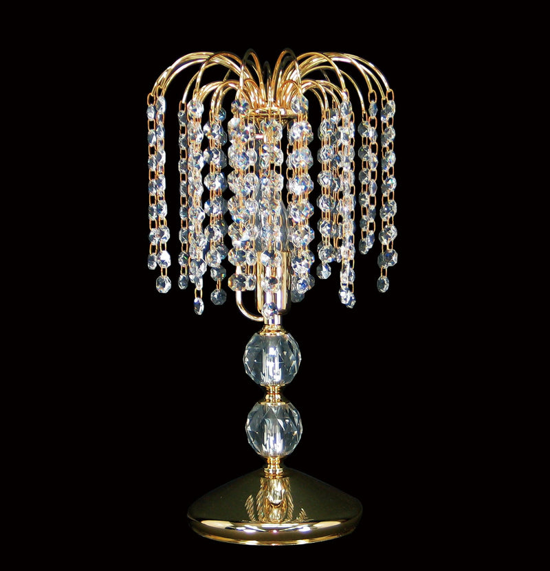 "4718 Crystal Table Lamp - 8"" 1 Light - Asfour Crystal 14mm Beads [T-4718-8""-14]"