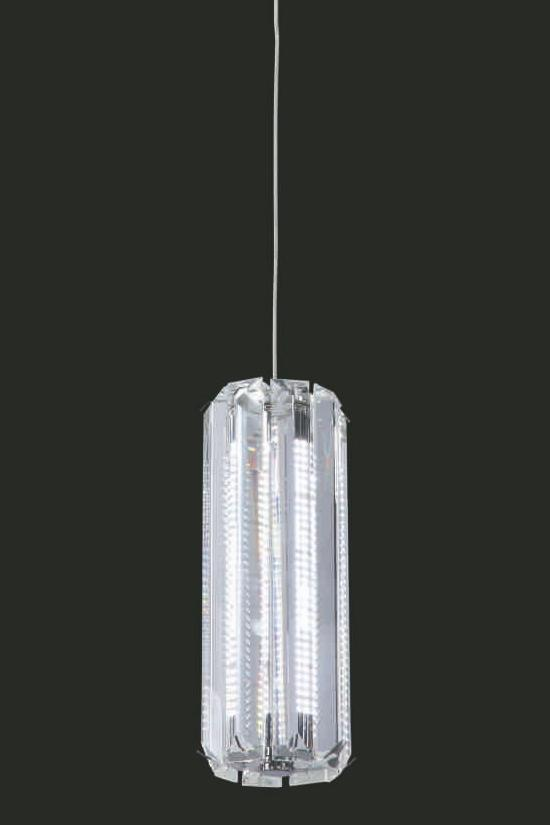 "Venus 14W LED Crystal Single Pendant Light - 3.5"" 1 Light Chrome [Venus-1L-CH]"
