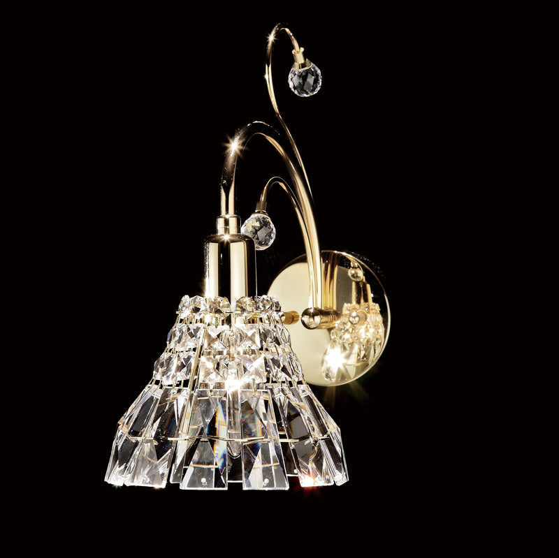 "031 Crystal Wall Light - 5"" 1 Light - Crystal Shade - Asfour Crystal [W-031-(B)-1L-1143]"