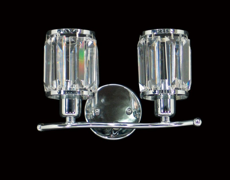 "073 Crystal Wall Light - 10"" 2 Light - Asfour Crystal [W-073-2L-610-16]"