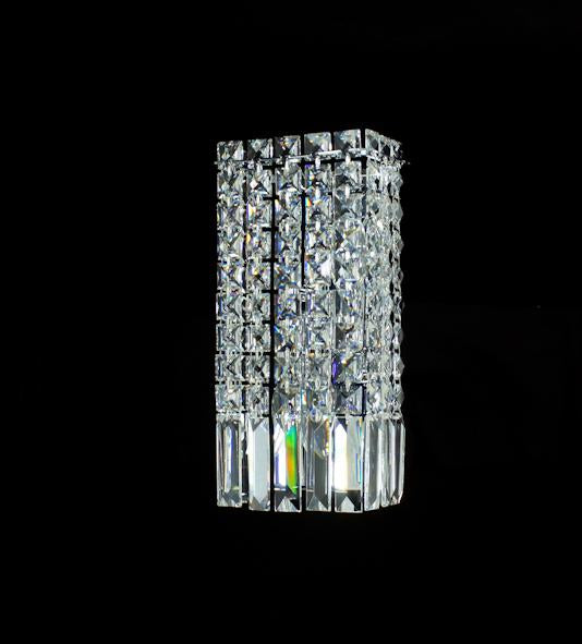 "100 Crystal Wall Light - 6"" 2 Light - Asfour Crystal [W-100-1-2L-611-11]"