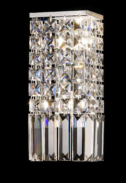 "101 Crystal Wall Light - 5.5"" 2 Light - Asfour Crystal [W-101-2L-610-4-10]"