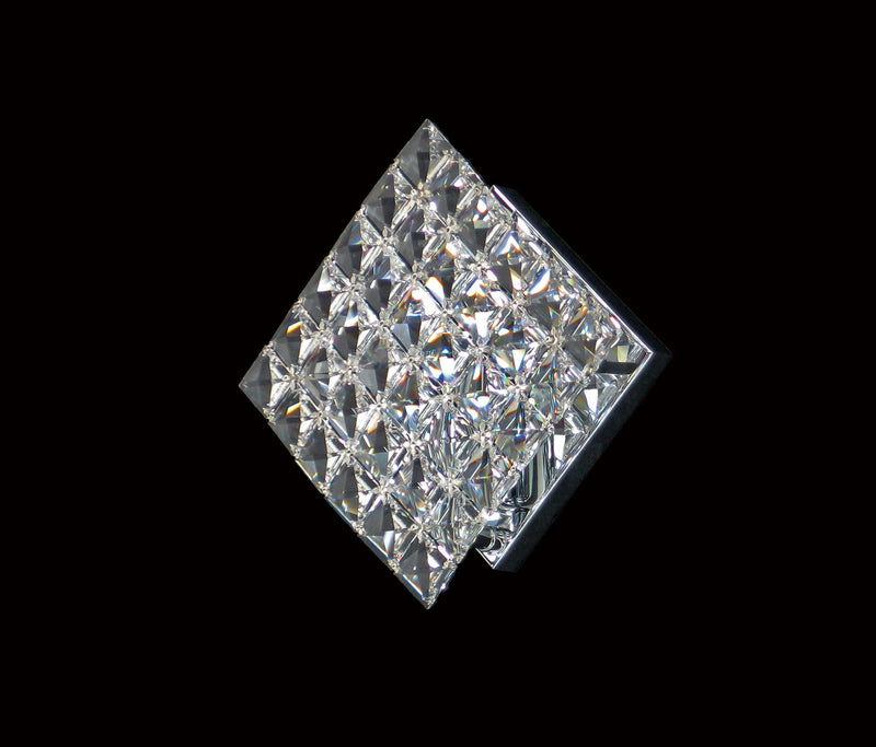 "1081 Crystal Wall Light - 10"" 1 Light - Tile Patterned - Asfour Crystal [W-1081-1L-28mm-36]"