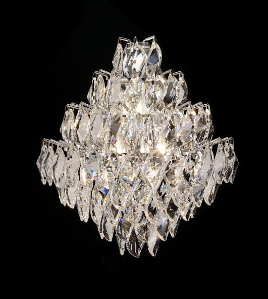 "1081 Crystal Wall Light - 13"" 3 Light - Asfour Crystal Pendeloque [W-1081-3L-922-66]"