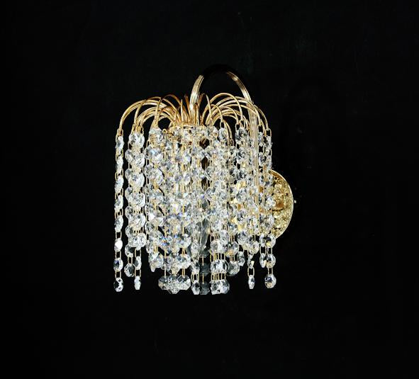 "1660 Crystal Wall Light - 7"" 1 Light - Asfour Crystal 14mm Beads [W-1660-1L-14mm]"