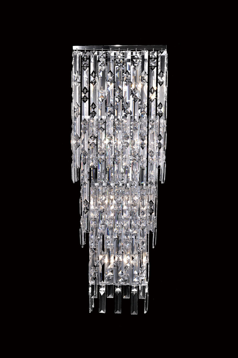 "20610 Crystal Wall Light - 12"" 8 Light - Asfour Crystal [W-20610-12""x5.5""x36""-8L]"